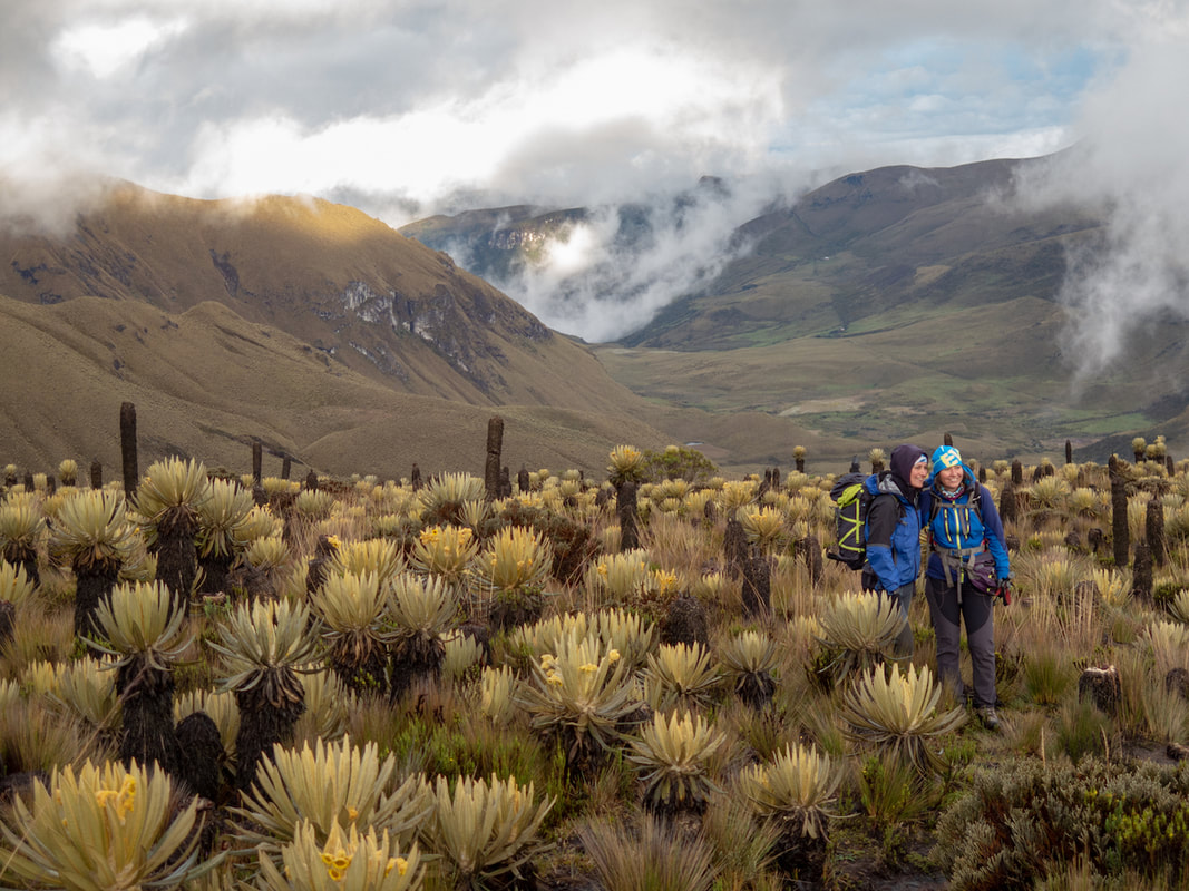 Capturing the moment together in a Colombian paramo