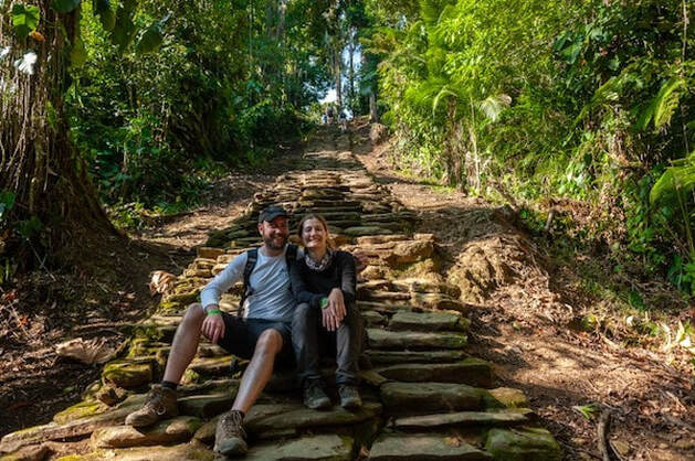 Steps leading to the ancient Lost City in Santa Marta