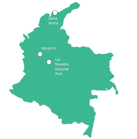 Spanish Immersion Colombia Map